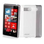 Чехол Jekod Soft case для Nokia Lumia 820 (белый, гелевый)