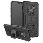 Чехол Yotrix Shockproof case для Samsung Galaxy A8 2018 (черный, пластиковый)