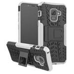 Чехол Yotrix Shockproof case для Samsung Galaxy A8 2018 (белый, пластиковый)