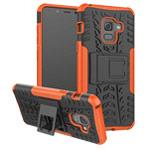Чехол Yotrix Shockproof case для Samsung Galaxy A8 2018 (оранжевый, пластиковый)