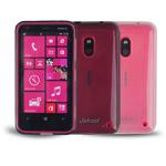 Чехол Jekod Soft case для Nokia Lumia 620 (белый, гелевый)
