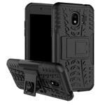 Чехол Yotrix Shockproof case для Samsung Galaxy J2 pro 2018 (черный, пластиковый)