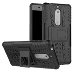 Чехол Yotrix Shockproof case для Nokia 5 (черный, пластиковый)
