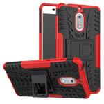 Чехол Yotrix Shockproof case для Nokia 6 (красный, пластиковый)