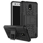 Чехол Yotrix Shockproof case для Nokia 2 (черный, пластиковый)