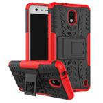 Чехол Yotrix Shockproof case для Nokia 2 (красный, пластиковый)