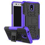 Чехол Yotrix Shockproof case для Nokia 2 (фиолетовый, пластиковый)