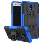 Чехол Yotrix Shockproof case для Nokia 2 (синий, пластиковый)