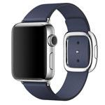 Ремешок для часов Synapse Modern Buckle для Apple Watch (38 мм, темно-синий, кожаный)