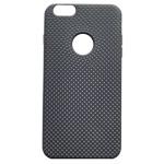 Чехол Yotrix LiquidSilicone Dotted для Apple iPhone 6S (черный/серый, гелевый)