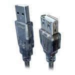 USB-удлинитель Monster Extension Cable универсальный (USB AM-AF, USB 2.0, 5 метров, черный)