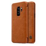 Чехол Nillkin Qin leather case для Samsung Galaxy S9 plus (коричневый, кожаный)