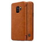 Чехол Nillkin Qin leather case для Samsung Galaxy S9 (коричневый, кожаный)