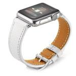 Ремешок для часов Kakapi Single Tour Band для Apple Watch (38 мм, белый, кожаный)