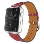Ремешок для часов Kakapi Single Tour Band для Apple Watch (38 мм, красный, кожаный)