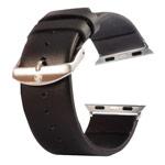 Ремешок для часов Kakapi Plain Leather Band для Apple Watch (42 мм, черный, кожаный)