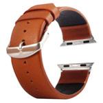 Ремешок для часов Kakapi Plain Leather Band для Apple Watch (38 мм, коричневый, кожаный)