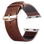 Ремешок для часов Kakapi Plain Leather Band для Apple Watch (38 мм, темно-коричневый, кожаный)