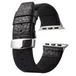 Ремешок для часов Kakapi Buffalo Leather Band для Apple Watch (38 мм, черный, кожаный)