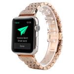 Ремешок для часов Synapse Metal Crystal Bracelet для Apple Watch (38 мм, розово-золотистый, стальной)