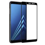 Защитная пленка Yotrix 3D Glass Protector для Samsung Galaxy A8 2018 (стеклянная, черная)
