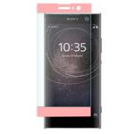 Защитная пленка Yotrix 3D Glass Protector для Sony Xperia XA2 (стеклянная, розовая)