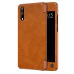 Чехол Nillkin Qin leather case для Huawei P20 (коричневый, кожаный)