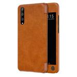 Чехол Nillkin Qin leather case для Huawei P20 pro (коричневый, кожаный)