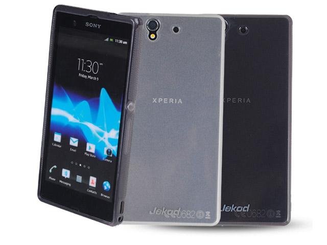 Чехол Jekod Soft case для Sony Xperia Z L36i/L36h (белый, гелевый)