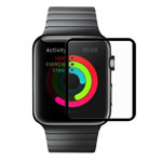 Защитная пленка Devia Full Screen Tempered Glass для Apple Watch 38 мм (стеклянная, 0.15 мм, черная)