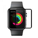 Защитная пленка Devia Full Screen Tempered Glass для Apple Watch 42 мм (стеклянная, 0.15 мм, черная)