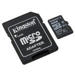 Флеш-карта Kingston microSD (16Gb, microSD, Class 10 U1, SD-адаптер)