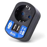 Зарядное устройство SVC Universal Adapter HA31 универсальное (сетевое, 3.1A, 2xUSB, черное)