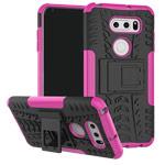 Чехол Yotrix Shockproof case для LG V30 (розовый, пластиковый)