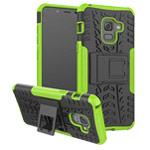 Чехол Yotrix Shockproof case для Samsung Galaxy A8 plus 2018 (зеленый, пластиковый)