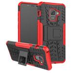 Чехол Yotrix Shockproof case для Samsung Galaxy A8 plus 2018 (красный, пластиковый)