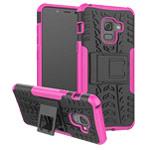 Чехол Yotrix Shockproof case для Samsung Galaxy A8 plus 2018 (розовый, пластиковый)