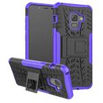 Чехол Yotrix Shockproof case для Samsung Galaxy A8 plus 2018 (фиолетовый, пластиковый)