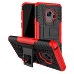 Чехол Yotrix Shockproof case для Samsung Galaxy S9 (красный, пластиковый)