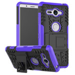 Чехол Yotrix Shockproof case для Sony Xperia XZ2 compact (фиолетовый, пластиковый)