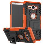Чехол Yotrix Shockproof case для Sony Xperia XZ2 compact (оранжевый, пластиковый)