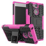 Чехол Yotrix Shockproof case для Sony Xperia XA2 (розовый, пластиковый)