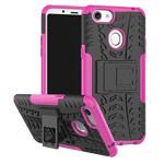 Чехол Yotrix Shockproof case для OPPO F5 (розовый, пластиковый)