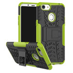 Чехол Yotrix Shockproof case для OPPO F5 (зеленый, пластиковый)