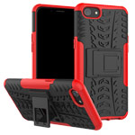 Чехол Yotrix Shockproof case для OPPO A83 (красный, пластиковый)
