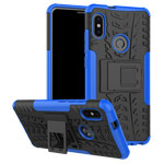 Чехол Yotrix Shockproof case для Xiaomi Redmi Note 5 pro (синий, пластиковый)