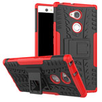 Чехол Yotrix Shockproof case для Sony Xperia XA2 ultra (красный, пластиковый)