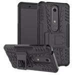 Чехол Yotrix Shockproof case для Nokia 6 2018 (черный, пластиковый)