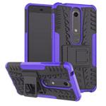 Чехол Yotrix Shockproof case для Nokia 6 2018 (фиолетовый, пластиковый)