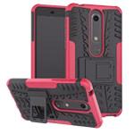 Чехол Yotrix Shockproof case для Nokia 6 2018 (розовый, пластиковый)